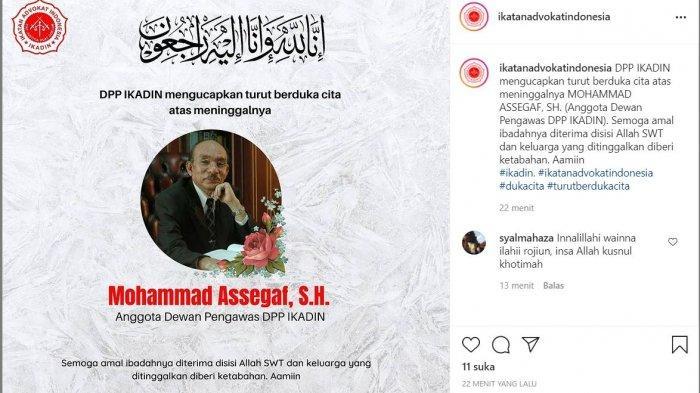 Muhammad Assegaf Meninggal Dunia